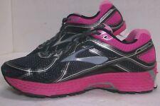 BROOKS GTS 16 Black Pink Silver Running Shoes Womens Size 9.5 MDM B EUC