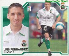 LUIS FERNANDEZ ESPANA REAL RACING SANTANDER STICKER LIGA ESTE 2008 PANINI