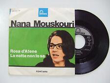 Nana Mouskouri–Rosa D'Atene/La Notte Non Lo sa-Disco Vinile 45 Giri ITALIA 1965