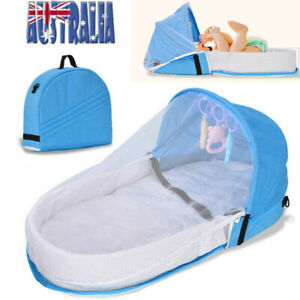 Travel Bed Baby Nest Bed Portable Crib Mosquito Net Infant Toddler Cotton Cradle