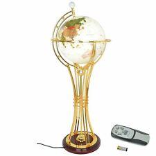 Drehbar Erde Globus Luxus Gold Oberfläche Licht Zu Ständer Heim Zimmer Büro Deko