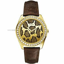 Guess Ladies 3D Animal Watch Yellow Gold W0056L2