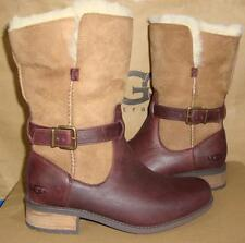UGG Australia PERNILLE Chestnut Leather Lined Boots Size US 7 NIB #1016045 RARE
