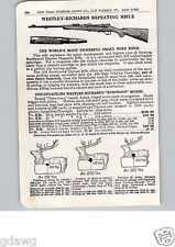 1915 PAPER AD 2 PG Westley Richards Repeating Rifle Robinson Murray Model Ross