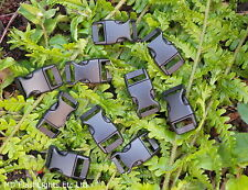 "10 x 15MM 5/8"" BLACK CONTOURED QUICK RELEASE PARACORD SURVIVAL BUSHCRAFT BUCKLES"