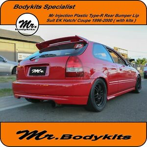 Mr PP Plastic Type-R Rear Lip Suit Honda Civic EK Series 1996-2000 Hatch / Coupe