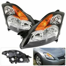 Fits 07-09 Nissan Altima Black Housing Amber Corner Replacement Headlights Pair