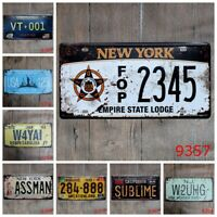 I Love Country Tin Sign Cafe Gym License plate Wall Hanging signs Bar Home Decor