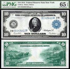 1914 $10 FRN PCGS GEM CU65EPQ Stunning!