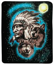 Native Chief & Wolf Southwestern 50x60 Fleece Throw Blanket