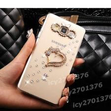 Bling Diamonds Back Soft Phone Cases Covers For Nokia with Long Crystals Strap