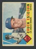 1960 Topps #166 Chuck Essegian VG/VGEX Dodgers 30725