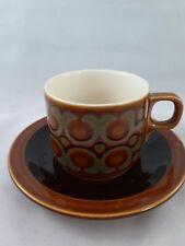 More details for hornsea pottery bronte tea cup & saucer brown vintage british read description