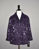 LAFAYETTE 148 NEW YORK NEW $598 Purple Jacquard Swing Jacket Coat Size 4