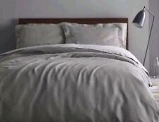 Fieldcrest Washed Linen Skyline GRAY ~ KING ~ Duvet Cover Set 100% Linen ~ New