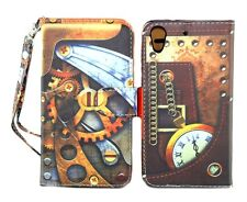 Steampunk Design Wallet Leather Case for HTC Desire 626 626S