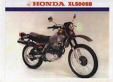 1981 HONDA XL500SB 2 page Motorcycle Brochure NCS