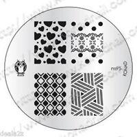m95 -  IMAGE PLATE Konad Stamping Nail Art Design Nail Template  USA SELLER