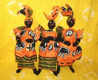 African Cloth Doll Set fancy wax print Africa dolls decor ddss157