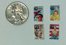 Dollhouse Miniature Vintage Magazines Books tv 1:12 in scale H136 Dollys Gallery
