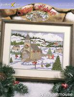 VILLAGE HOLIDAYS Christmas Cross Stitch Pattern ~ NEW