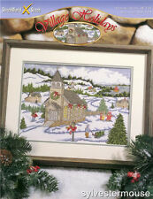 VILLAGE HOLIDAYS Christmas Cross Stitch Pattern ~ NEW