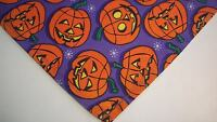 Dog Bandana/Scarf, Tie On, Cotton, Halloween, Custom made by Linda, XS,S,M,L