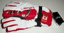 Ed Hardy Snow Gloves Ski Board Boogie Sled winter Canada Canadia Flag Xmas M new