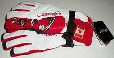Ed Hardy Snow Gloves Ski Board Boogie Sled winter Canada Canadian Flag Xmas L