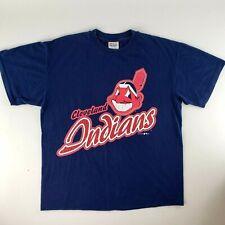Vintage MLB 1997 Cleveland Indians Single Stitch T-Shirt Mens Sz L Chief Wahoo