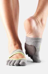 ToeSox Women's Releve Full Toe Grip for Dance Yoga Pilates Barre Toe Socks Sz. M