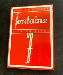 Red Fontaine Playing Cards RARE FIRST EDITION SOLD OUT!!!