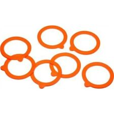 Bag Of 10 Home Made Silicone Glass Preserving Jar Rings - Sealing Spare Jars