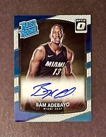 2017-18 Bam Adebayo Donruss Optic Rated Rookie Autograph Auto RC Heat Mint