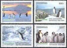 Mongolia 1997 Penguins/Antarctic/Birds/Nature/Greenpeace/Conservation 4v (b6703)