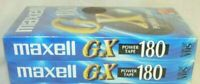 2 Pack HITACHI MAXELL E180-GX Blank VHS Video Cassette Tapes 3 Hour NEW & SEALED