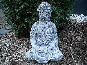 Steinfigur Buddha Shiva (38cm)   Feng-Shui Frostfest Steinguss Garten Deko
