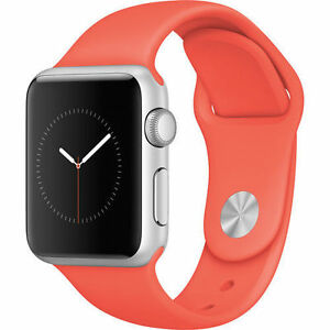 Authentic Apple Watch Sport 42mm Aluminum Case Orange Sport Band - MJ3R2LL/A