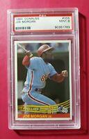 1984 Donruss #355 JOE MORGAN (Philadelphia Phillies) *HOF* **PSA 9 (MINT)** WOW!
