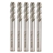 5pcs 1/4''x1/4'' HSS CNC 4 Flute End Mill Cutter Milling Machine Tool Drill Bit