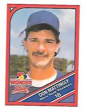 DON MATTINGLY 1990 WONDER BREAD STARS #6 NEW YORK YANKEES