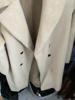 ZARA DOUBLE BREASTED FUR COAT BEIGE SIZE M (Worn Twice) BLOGGERS FAV SOLD OUT