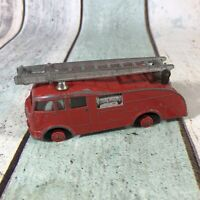 VINTAGE DINKY TOYS No.955 FIRE ENGINE GLAZED WINDOWS RED BODY & HUBS