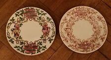 2 X Antique Copeland And Garrett ( Spode ) Victorian Christmas Plate C.1833-1847