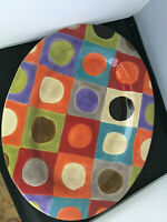 Pier 1 URBAN DOTS Oval Serving Platter