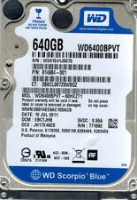 Western Digital WD6400BEVT-60HXZT1 640GB DCM: EBCTJHB