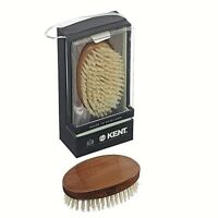 MEN'S OVAL CHERRYWOOD PURE WHITE BRISTLE HAIR BRUSH KENT BRUSHES HANDMADE ROYAL