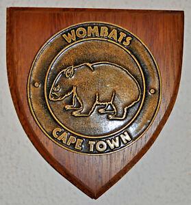 Cape Town Wombats Cricket Club plaque shield crest