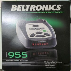 Beltronics Vector 955 Radar Detector, Accessories & Hardwire Kit in box tested!