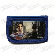 Marvel Batman vs Superman Teen Boys Blue Tri-Fold Wallet